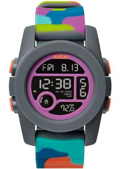 Nixon Часы Nixon A490-1988. Коллекция Unit электронные часы nixon re run leather black camo