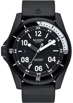 Nixon Часы Nixon A960-001. Коллекция Descender часы nixon time teller deluxe leather navy sunray brow