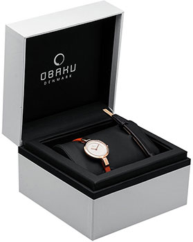 Obaku Часы Obaku V129LXVIRO-ERB. Коллекция Leather obaku v186lxvwrb