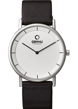 Obaku Часы Obaku V143GXCIRN. Коллекция Leather часы nixon time teller deluxe leather navy sunray brow