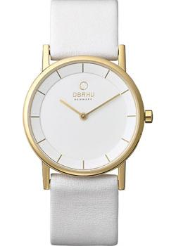 цена Obaku Часы Obaku V143LXGWRW. Коллекция Leather онлайн в 2017 году