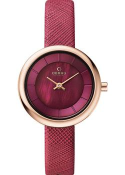 Obaku Часы Obaku V146LXVQRD. Коллекция Leather obaku v186lxvwrb