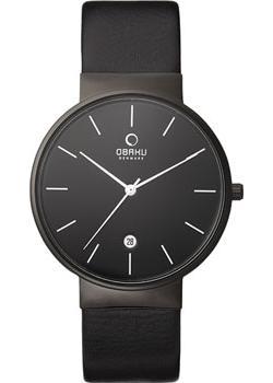 Obaku Часы Obaku V153GDBBRB. Коллекция Leather obaku v129lxvlra