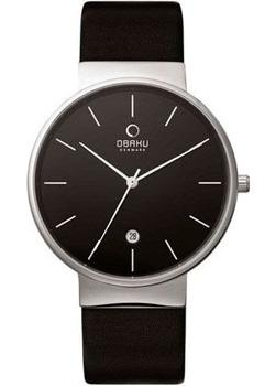 Obaku Часы Obaku V153GDCBRB. Коллекция Leather obaku часы obaku v153gdgwrb коллекция leather