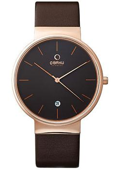 Obaku Часы Obaku V153GDVNRN. Коллекция Leather часы nixon time teller deluxe leather navy sunray brow