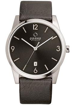 Obaku Часы Obaku V169GDCBRB. Коллекция Leather obaku часы obaku v193gmvirn коллекция leather
