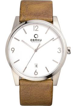 Obaku Часы Obaku V169GDCIRN. Коллекция Leather obaku часы obaku v193gmvirn коллекция leather