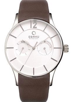 Obaku Часы Obaku V175GMCIRN. Коллекция Leather obaku часы obaku v133gdcbrb коллекция leather
