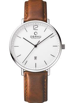 Obaku Часы Obaku V181GDCWRN. Коллекция Leather obaku v186lxvwrb