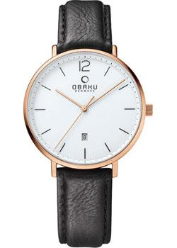 Obaku Часы Obaku V181GDVWRB. Коллекция Leather obaku v186lxvwrb