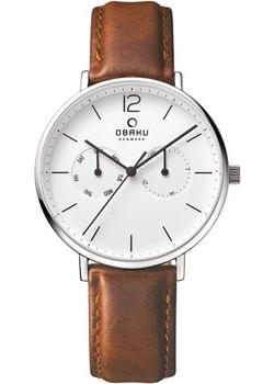 Obaku Часы Obaku V182GMCWRN. Коллекция Leather obaku v149lxcirb