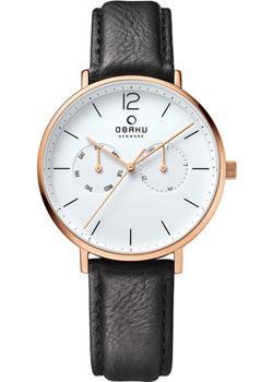 купить Obaku Часы Obaku V182GMVWRB. Коллекция Leather по цене 6850 рублей