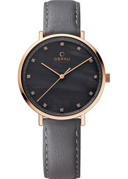 Obaku Часы Obaku V186LXVJRJ. Коллекция Leather obaku часы obaku v193gmvirn коллекция leather