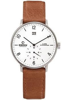 Obaku Часы Obaku V190GDCWRZ. Коллекция Leather obaku v129lxvlra