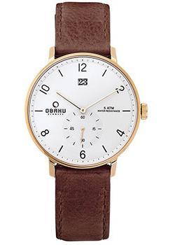 Obaku Часы Obaku V190GDGWRN. Коллекция Leather часы nixon genesis leather white saddle