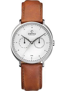 Obaku Часы Obaku V193GMCIRZ. Коллекция Leather часы nixon genesis leather white saddle