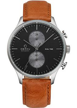 Obaku Часы Obaku V196GUCURZ. Коллекция Leather obaku часы obaku v149lxvjrj коллекция leather