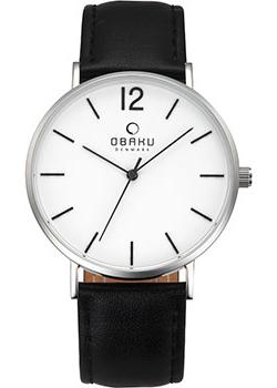 Obaku Часы Obaku V197GXCWRB. Коллекция Leather obaku часы obaku v149lxvjrj коллекция leather