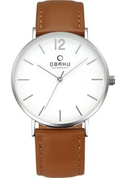Obaku Часы Obaku V197GXCWRN. Коллекция Leather obaku часы obaku v193gmvirn коллекция leather