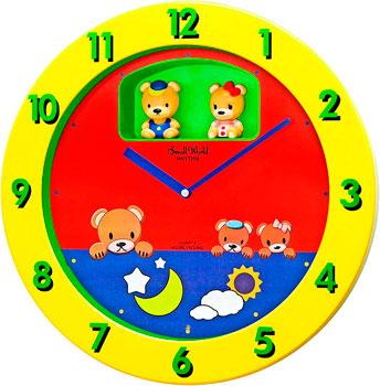 Rhythm Настенные часы Rhythm 4MH894WD33. Коллекция Настенные часы single wood tone block rhythm percussion