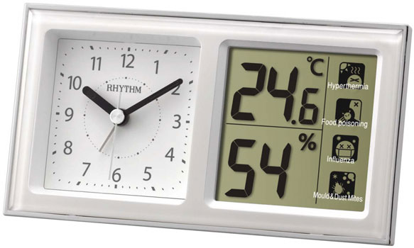 Фото - Rhythm Настенные часы Rhythm 8RE648WR03. Коллекция часы настольные и настенные