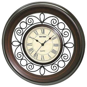 Rhythm Настенные часы Rhythm CMG414NR06. Коллекция Century rhythm настенные часы rhythm 4mp726ws18 коллекция century