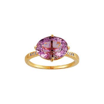 Золотое кольцо Ювелирное изделие 00189RS кольцо алмаз холдинг женское золотое кольцо с бриллиантами и рубином alm13237661 19