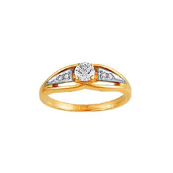 Золотое кольцо Ювелирное изделие 00281RS кольцо алмаз холдинг женское золотое кольцо с бриллиантами и рубином alm13237661 19