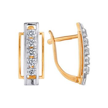Золотые серьги Ювелирное изделие 02149RS