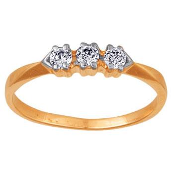 Золотое кольцо Ювелирное изделие 02318RS