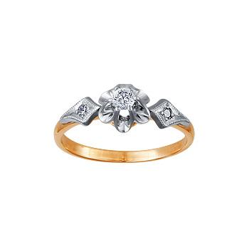 Золотое кольцо Ювелирное изделие 02468RS