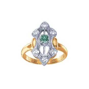 Золотое кольцо Ювелирное изделие 02785RS