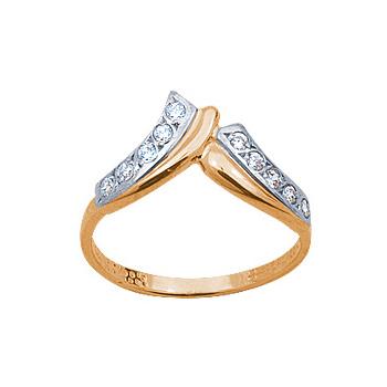 Золотое кольцо Ювелирное изделие 08483RS беньковский д любовь красное и белое