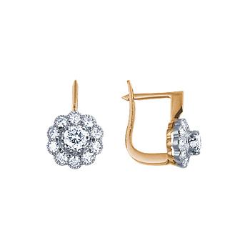 Золотые серьги Ювелирное изделие 10167RS серьги jv золотые серьги с бриллиантами e20070c db wg