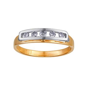 Золотое кольцо Ювелирное изделие 10289RS кольцо алмаз холдинг женское золотое кольцо с бриллиантами и рубином alm13237661 19