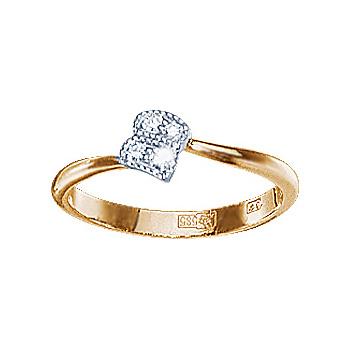 Золотое кольцо Ювелирное изделие 10291RS кольцо алмаз холдинг женское золотое кольцо с бриллиантами и рубином alm13237661 19