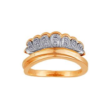 Золотое кольцо Ювелирное изделие 10306RS кольцо алмаз холдинг женское золотое кольцо с бриллиантами и рубином alm13237661 19