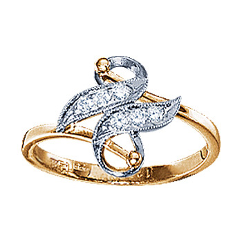 Золотое кольцо Ювелирное изделие 10775RS кольцо алмаз холдинг женское золотое кольцо с бриллиантами и рубином alm13237661 19