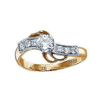Золотое кольцо Ювелирное изделие 10976RS
