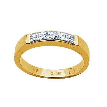 Золотое кольцо Ювелирное изделие 14219RS кольцо алмаз холдинг женское золотое кольцо с бриллиантами и рубином alm13237661 19