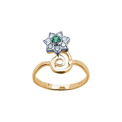 Золотое кольцо Ювелирное изделие 14378RS кольцо алмаз холдинг женское золотое кольцо с бриллиантами и рубином alm13237661 19