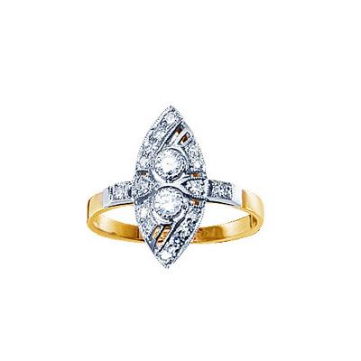 Золотое кольцо Ювелирное изделие 14540RS
