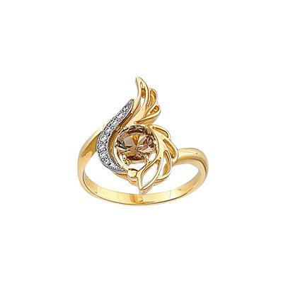 Золотое кольцо Ювелирное изделие 14627RS кольцо алмаз холдинг женское золотое кольцо с бриллиантами и рубином alm13237661 19