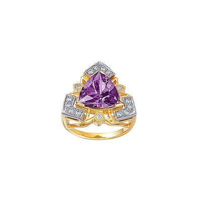 Золотое кольцо Ювелирное изделие 14630RS кольцо алмаз холдинг женское золотое кольцо с бриллиантами и рубином alm13237661 19