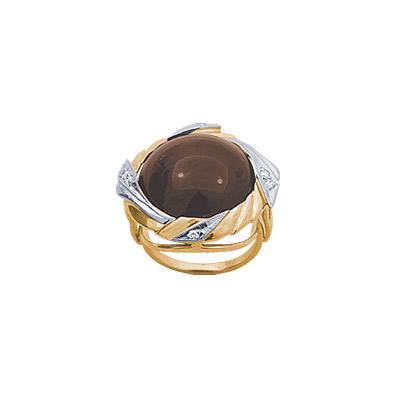 Золотое кольцо Ювелирное изделие 14834RS кольцо алмаз холдинг женское золотое кольцо с бриллиантами и рубином alm13237661 19