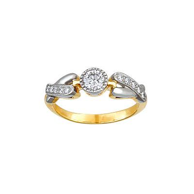Золотое кольцо Ювелирное изделие 14964RS кольцо алмаз холдинг женское золотое кольцо с бриллиантами и рубином alm13237661 19
