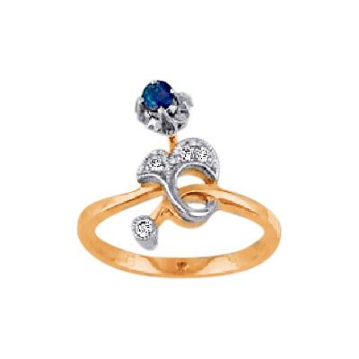 Золотое кольцо Ювелирное изделие 15058RS кольцо алмаз холдинг женское золотое кольцо с бриллиантами и рубином alm13237661 19