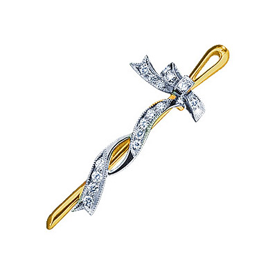 Золотая брошь Ювелирное изделие 15270RS