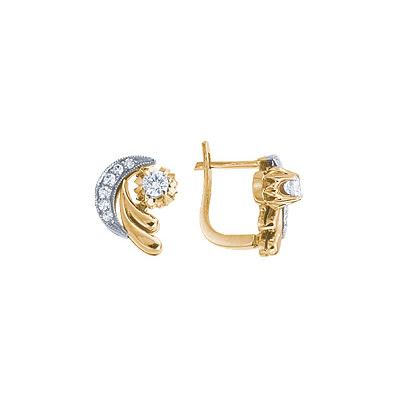 Золотые серьги Ювелирное изделие 15399RS