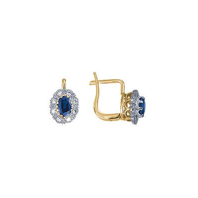 Золотые серьги Ювелирное изделие 15424RS серьги гвоздики лукас золотые серьги с бриллиантами и сапфирами e01 d bs 003bs2